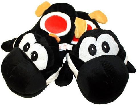 "(Adult) Black Yoshi Plush Slipper - One Size Fits All up to 11"" Long"