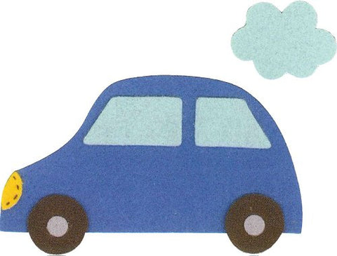 """Make with their children"" three felt felt applique KK-6 car (japan import)"