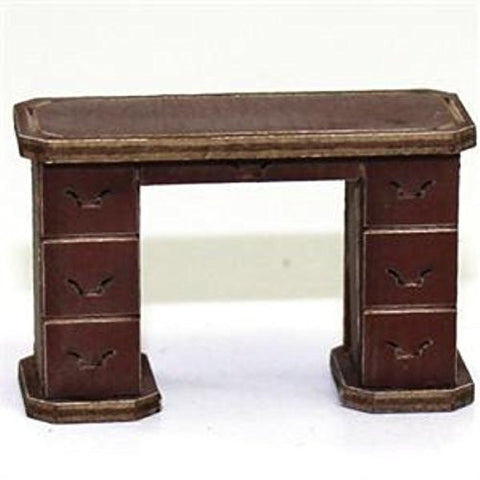 28mm Furniture: Medium Wood Office Desk