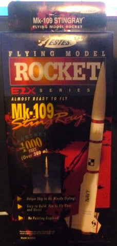 #2131 Estes E2X Series Mk-109 Sting Ray Model Rocket Kit,Needs Assembly