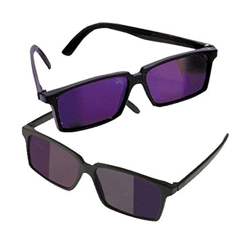 2 Pack Black Secret Rearview Spy Mirror Sunglasses Specially Coated Lenses  To See Whats Behind You