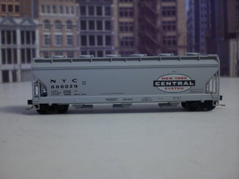 """N"" SCALE NEW YORK CENTRAL CENTER FLOW HOPPER CAR"