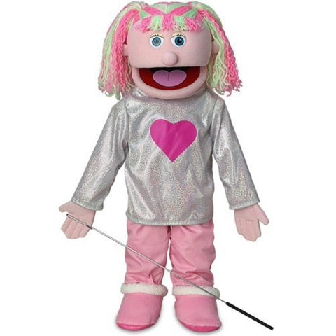 "25"" Kimmie, Pink Girl, Full Body, Ventriloquist Style Puppet"