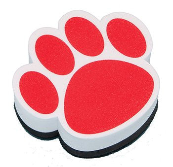 16 Pack ASHLEY PRODUCTIONS MAGNETIC WHITEBOARD ERASER RED PAW