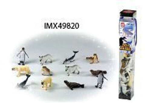 12 PC TUBE ARCTIC ANIMAL PLAYSET
