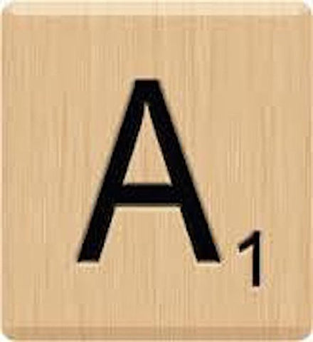 (10) Scrabble Letter 'A' Game Tiles, Scrabble for Crafts, Scrabble for Game Piece A,10 Letter A, Hardwood, Individual Scrabble Tiles