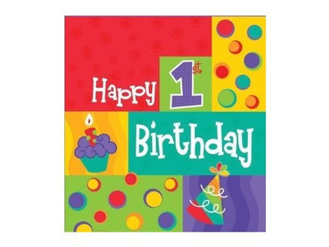"1st Cupcake First Birthday Party Decoration Waterproof Tablecover (54"" X 108"")"