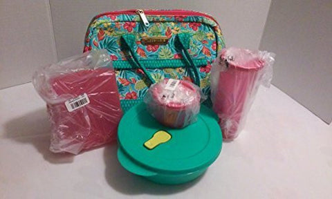 """Tupperware Tropical Lunch Set w/Bag"""