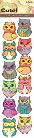 """Cute!"" Owls Stickers"