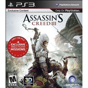 Assassin's Creed 3 - Includes Exclusive Content for Ps3 Only. Ships Priority Mail