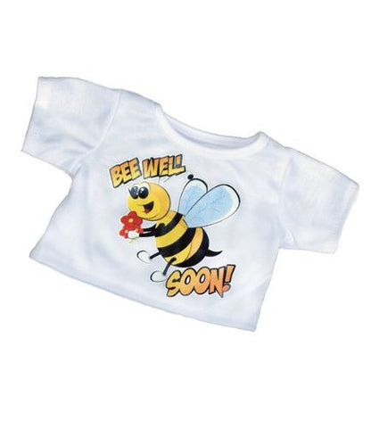 """Bee Well Soon"" T-Shirt Teddy Bear Clothes Fits Most 14"" - 18"" Build-a-bear, Vermont Teddy Bears, and Make Your Own Stuffed Animals"