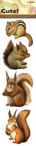 """Cute!"" Squirrel Stickers"