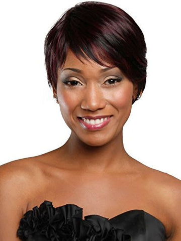 100% Real Hair Hair Short Black Costume Hair wigs with Side Bangs for black women human hair
