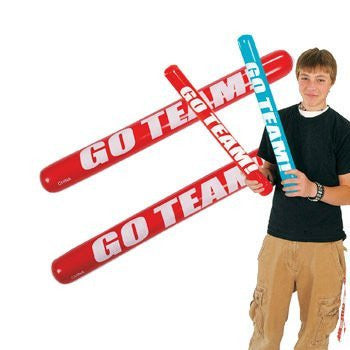 12 Inflatable Go Team! Noisemaker Sticks - Games & Activities & Inflatables