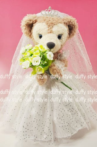 """Duffy style"" original TM S size 43cm Duffy Sherry Mae stuffed in perfect clothes TM wedding dress off the shoulder type D397D"