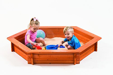 "59"" L x 51"" W x 9"" H Hexagon Sandbox with Cover Kit"