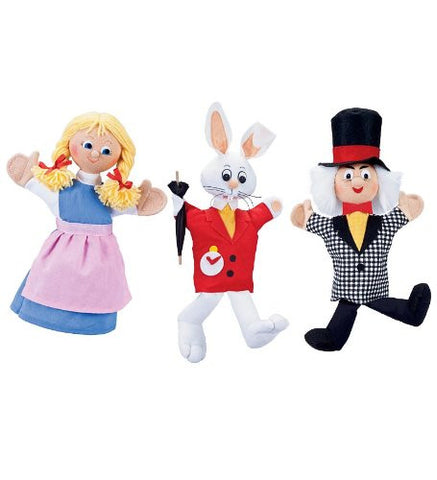 Alice in Wonderland Collection Handmade Puppets, Set of 3