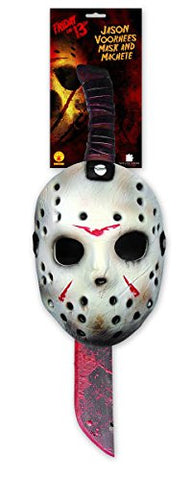 """Friday the 13th"" Set Mask and machete"