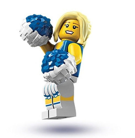 (Ship from USA) NEW LEGO SERIES 1 CHEERLEADER MINIFIG collectible minifigure figure 8683 no bag /ITEM#H3NG UE-EW23D111384