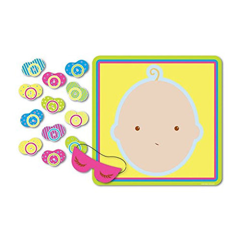 1 Baby Shower Fun Party Game Activity PIN THE PACIFIER ON THE BABY for 12 Guests