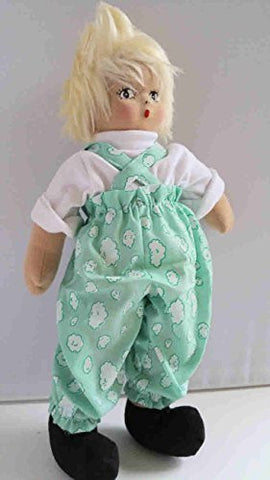 'MARC' - 13 Inches Tall - Cotton Rag Doll - Earth Friendly w/ Natural Kapok Stuffing - Excellent Quality - Great Attention To Details - Removable Soft Clothing - Safe And Fun For Kids