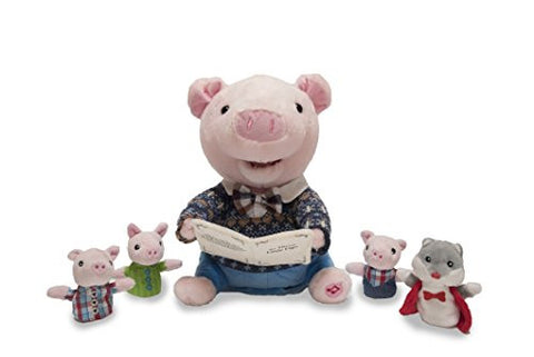 "12"" Preston the Storytelling Pig includes 4 finger puppets and recites The Three Little Pigs"