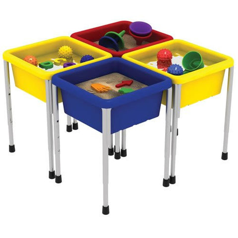 4 Station Sand and Water Play Center w/Lids