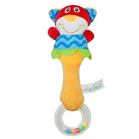 1 Pack Here Shine Developmental Baby First Rattle Toy Soft Plush Animal Style For Infant or Baby Bosy / Girls - Cat
