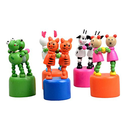 1 Pcs Wooden Puppet Toy Animals Dancing Standing Traditional Toy Style Random By Team-Management