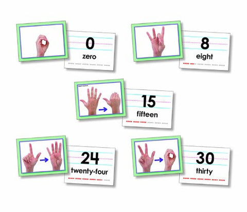 * AMERICAN SIGN LANGUAGE CARDS NUMBER