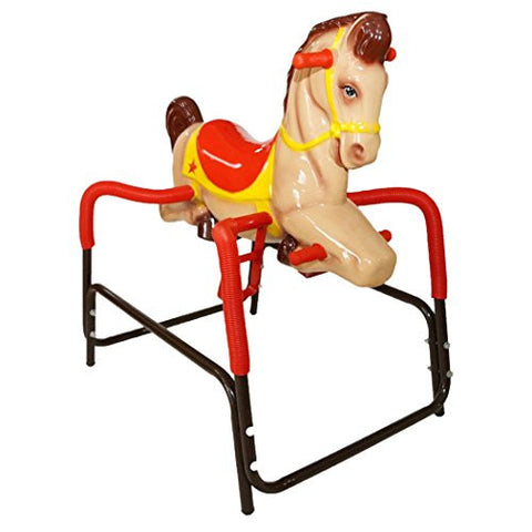 American Classic Toy Palomino Pony The Wonder Horse Ride On, Brown/Tan with Red