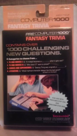 1988 Precomputer 1000 Vtech Fantasy Trivia Cartridge