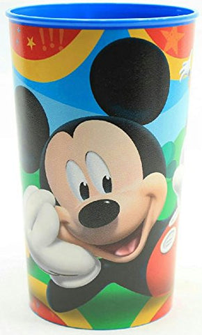 (Pack of 2) Cartoon Character Plastic Drinking Cup (Mickey Mouse)