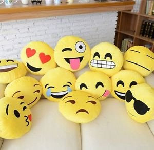 "12"" Emoji Pillow (set of 20) Assorted Emojis"