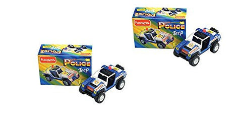 2 X Funskool Police Jeep - Crooks Watch Out! Police On The Prowl