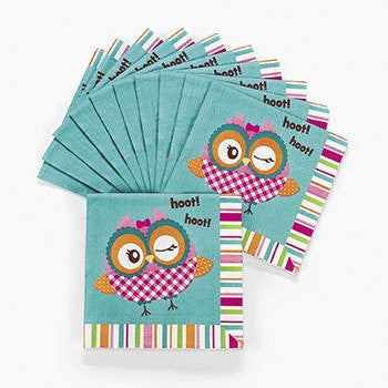 """You're A Hoot"" Owl Lunch Napkins (16 pc)"