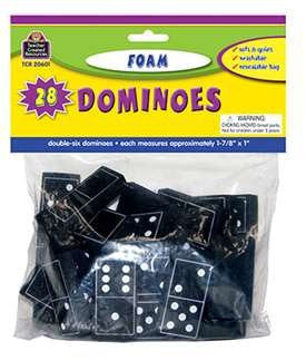 * FOAM DOMINOES BLACK - TCR20601