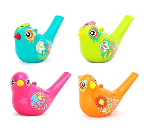 1 Piece TOMUM Chirpy Bird Water Whistle Color Drawing Bath Toy with Sling