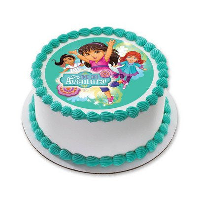 1/4 Sheet Dora and Friends Time for Aventura Edible Icing Image Cake Decoration Topper