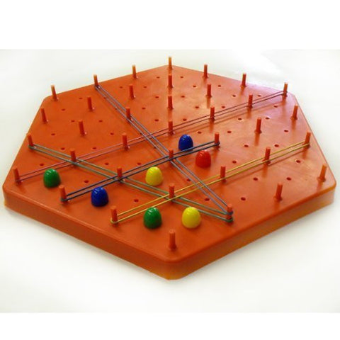 """Hex Pegs"" Strategic Educational Game By Buki Ltd -Affordable Gift for your Little One! Item #LMID-2002"