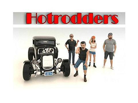 """Hotrodders"" 4 Piece Figure Set For 1:18 Scale Models by American Diorama 24007,24008,24009,24010"