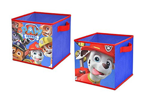 "2 Pack, 10""W x 10""L x 10""H, Colorful Graphics, Soft, Kid-Friendly Canvas Fabrication Storage Cubes"