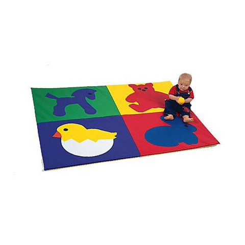 "Baby Animals 1"" Thick Foam Crawly Mat"