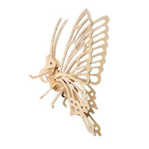 """ABC Products"" - Wooden 3-D ~ Insect Skelton - All Natural Wood - Assembling Kit (Flying Butterfly Model - Helps Kids Develop Coordination and Problem - Solving Skills)"