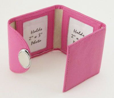 1 X HOT PINK TRI-FOLD FRAME - HOT PINK TRI-FOLD FRAME, HOLDS 3, 2 X 3 PHOTOS. - Picture Frame by Creative Gifts
