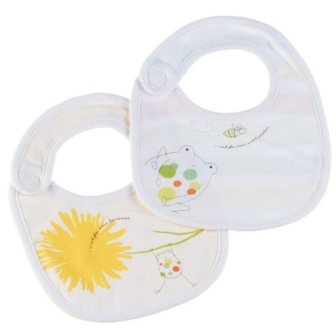 2 Baby Bibs Bee and Dandelion Design, I Wish for More Bananas and I Wish for More Sweet Potatoes by Midwest Gift World