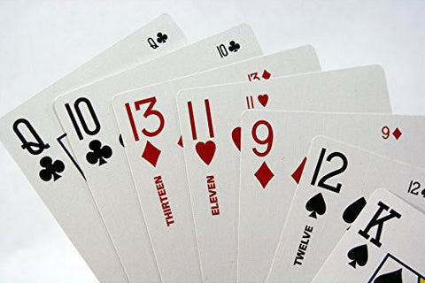 """Two2Six"" Playing Card Deck - Play Six (6) Handed 500, Super Solitaire or Party Poker Games with More People - Includes 68 Cards in All, 52 Regular, the 11s, 12s, 13s and 4 Jokers"