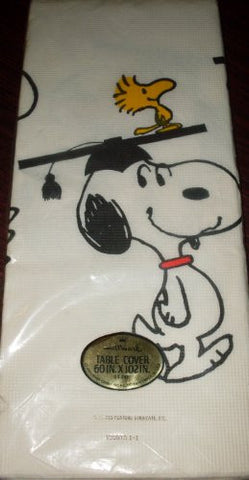 1970's Hallmark Peanuts Snoopy - Graduation - Table Cover, Tablecloth
