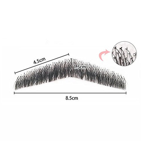 100% Human Hair Full Hand Tied Men Fake Beard Mustache for Entertainment//Party/film