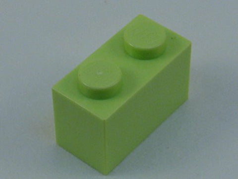 100x Lego Yellowish Green 1x2 Bricks Fun Pack